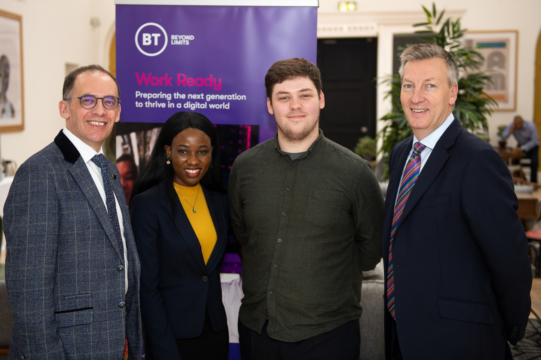Jose Lopes  and Ricky Ricketts with graduates Gifty Tubor and Michael Pitt
