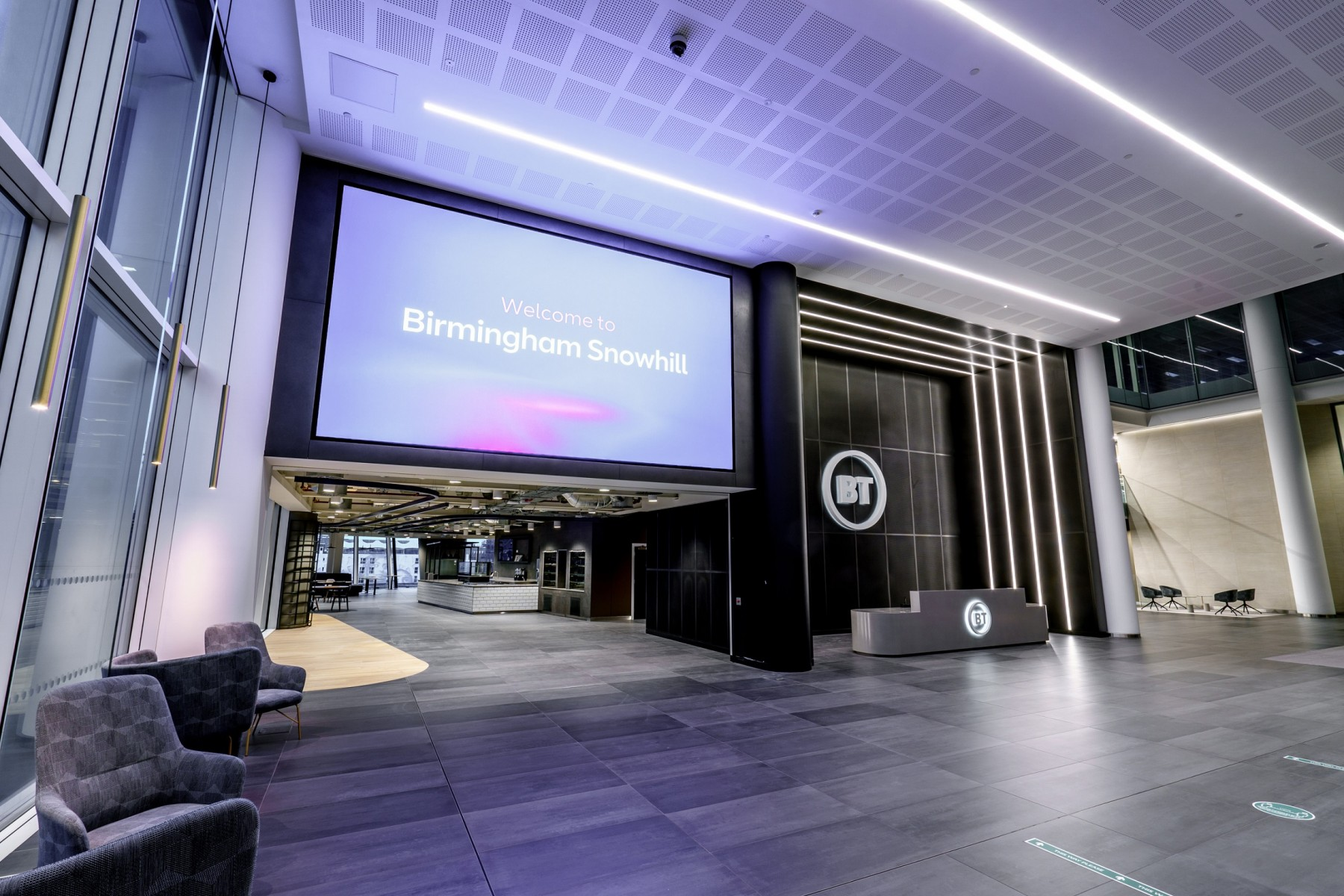 The BT reception area at Three Snowhill