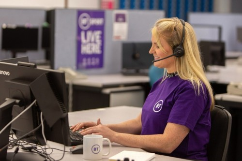 BT contact centre colleague