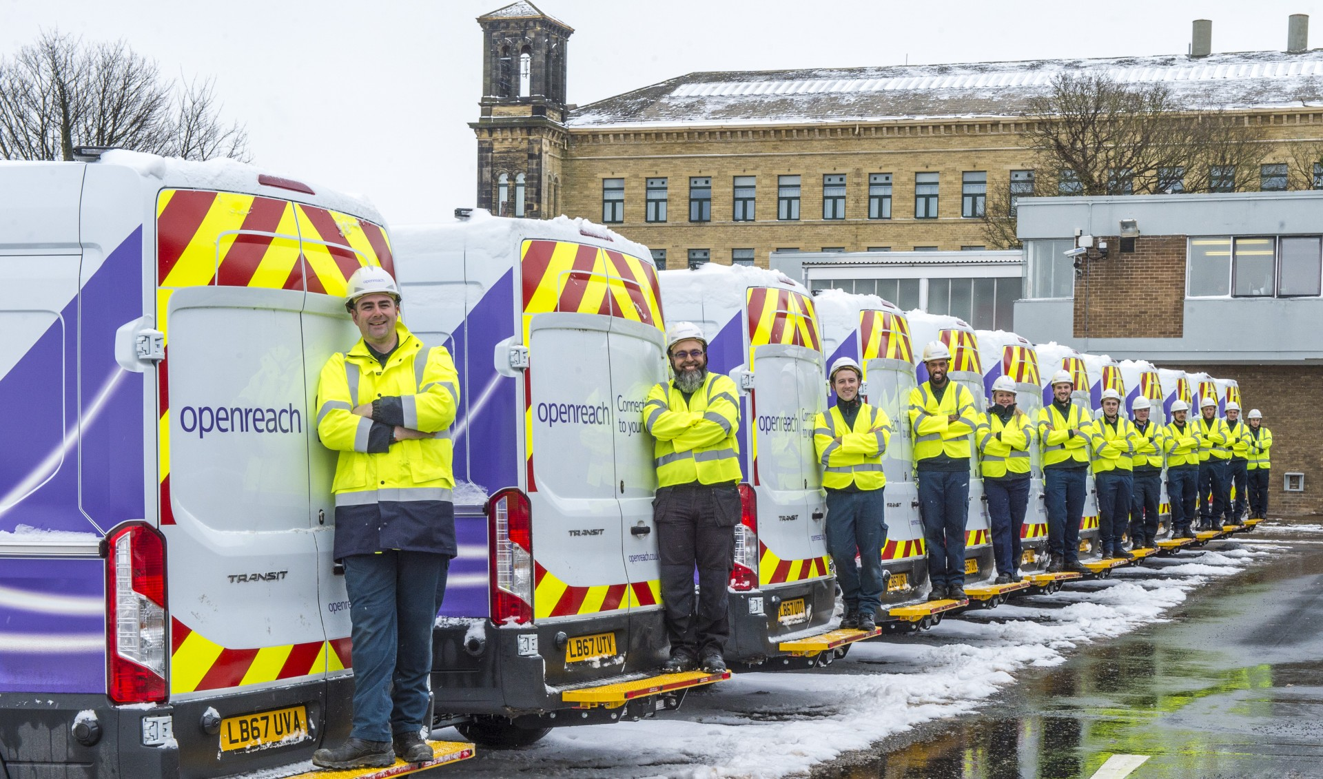 Openreach Engineers ready for winter