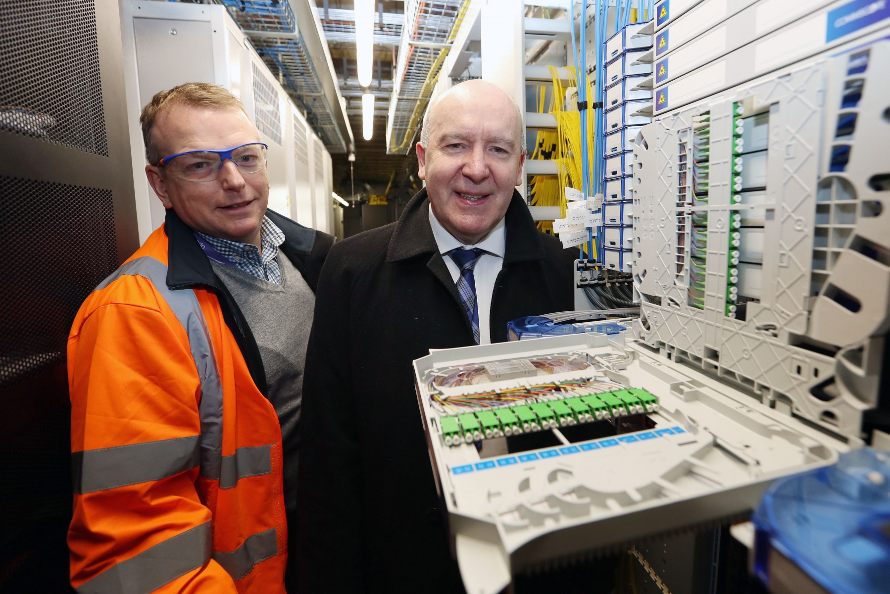 Willie Coffey MSP visits Openreach Fibre City build in Kilmarnock