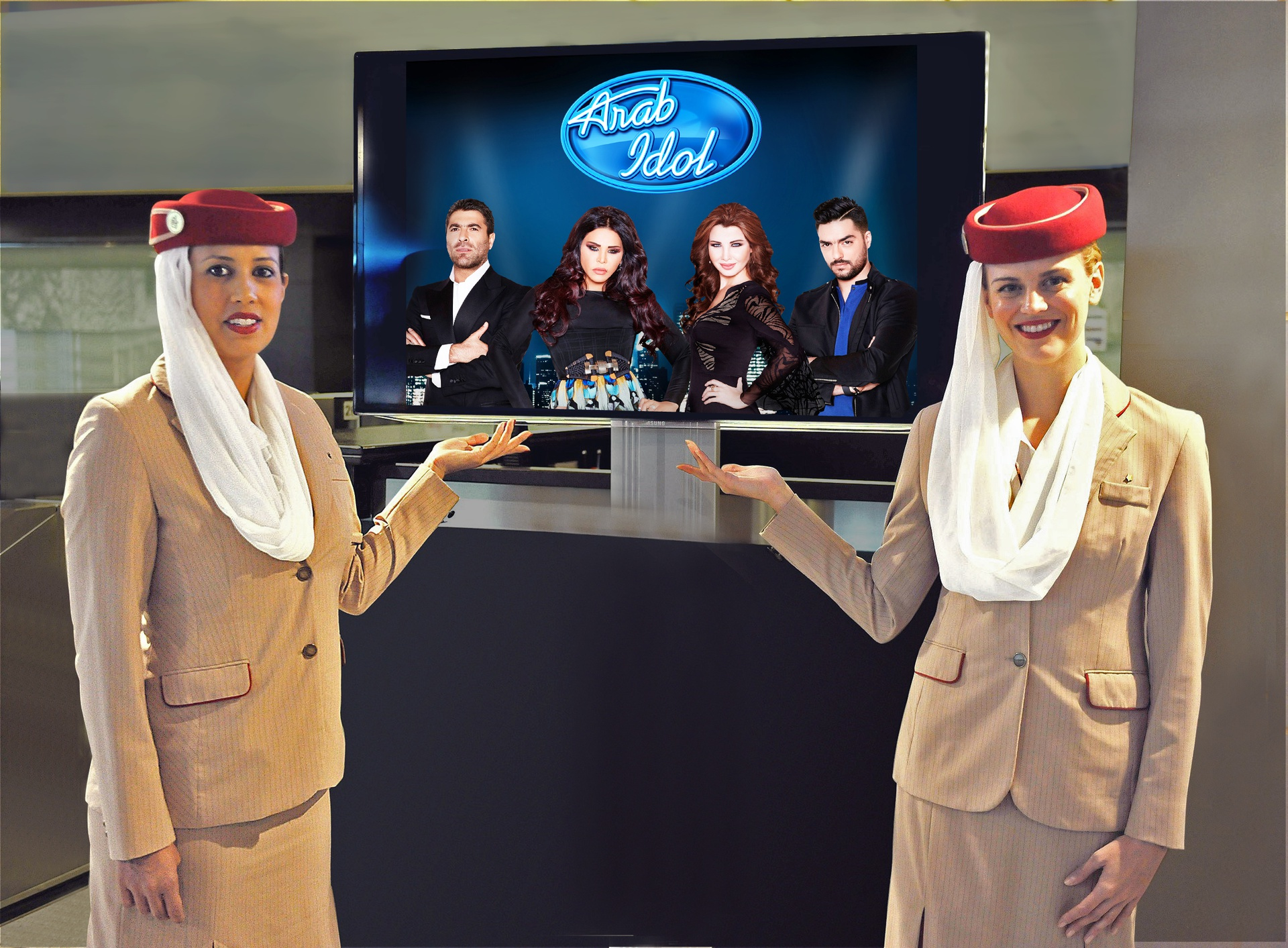 Emirates sponsors Arab Idol Season 3.