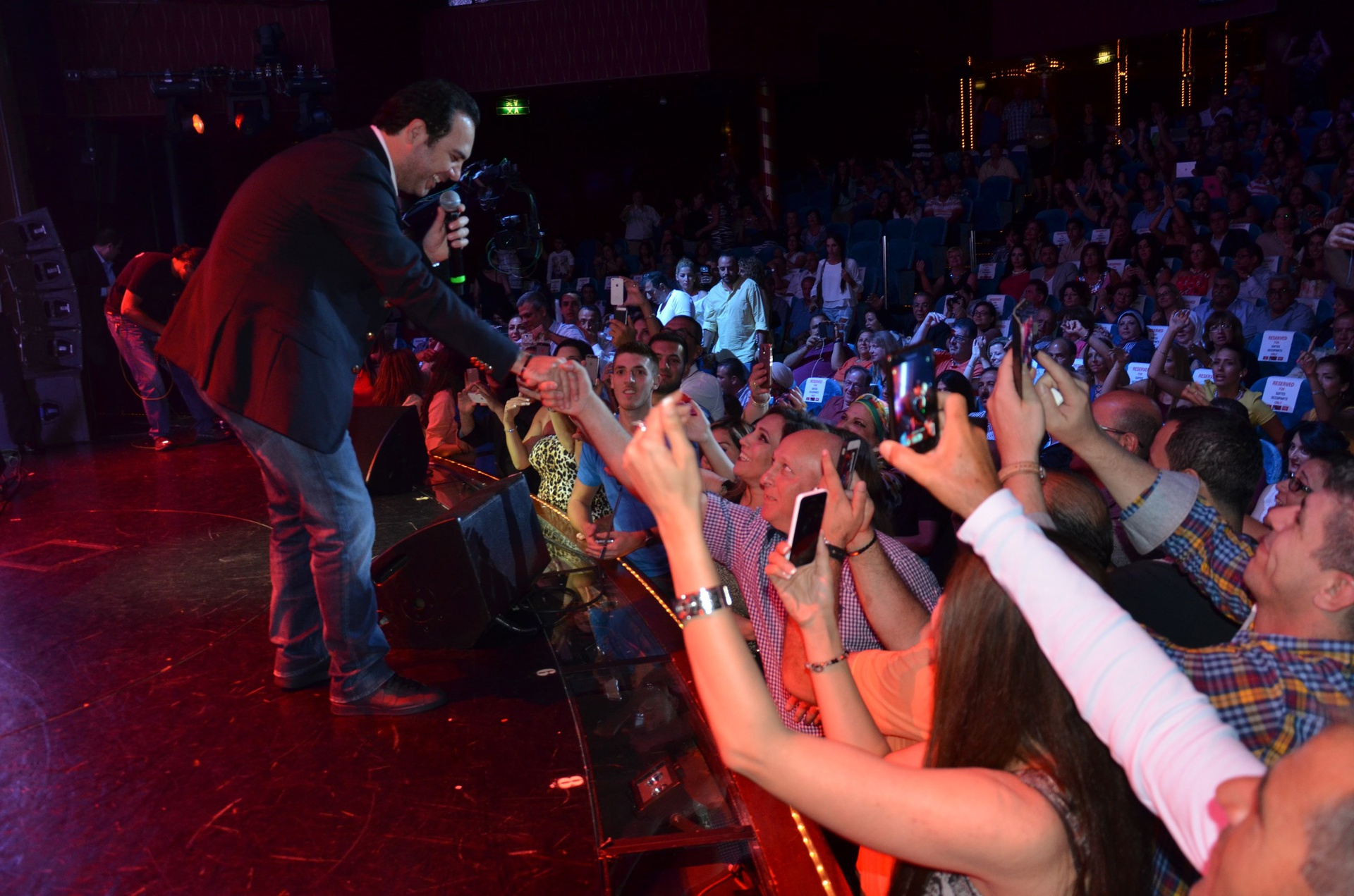 "A view from one of the last year's live concerts with the Lebanese star Wael Jassar, who will also perform in this year's ""Stars on Board"" cruise."