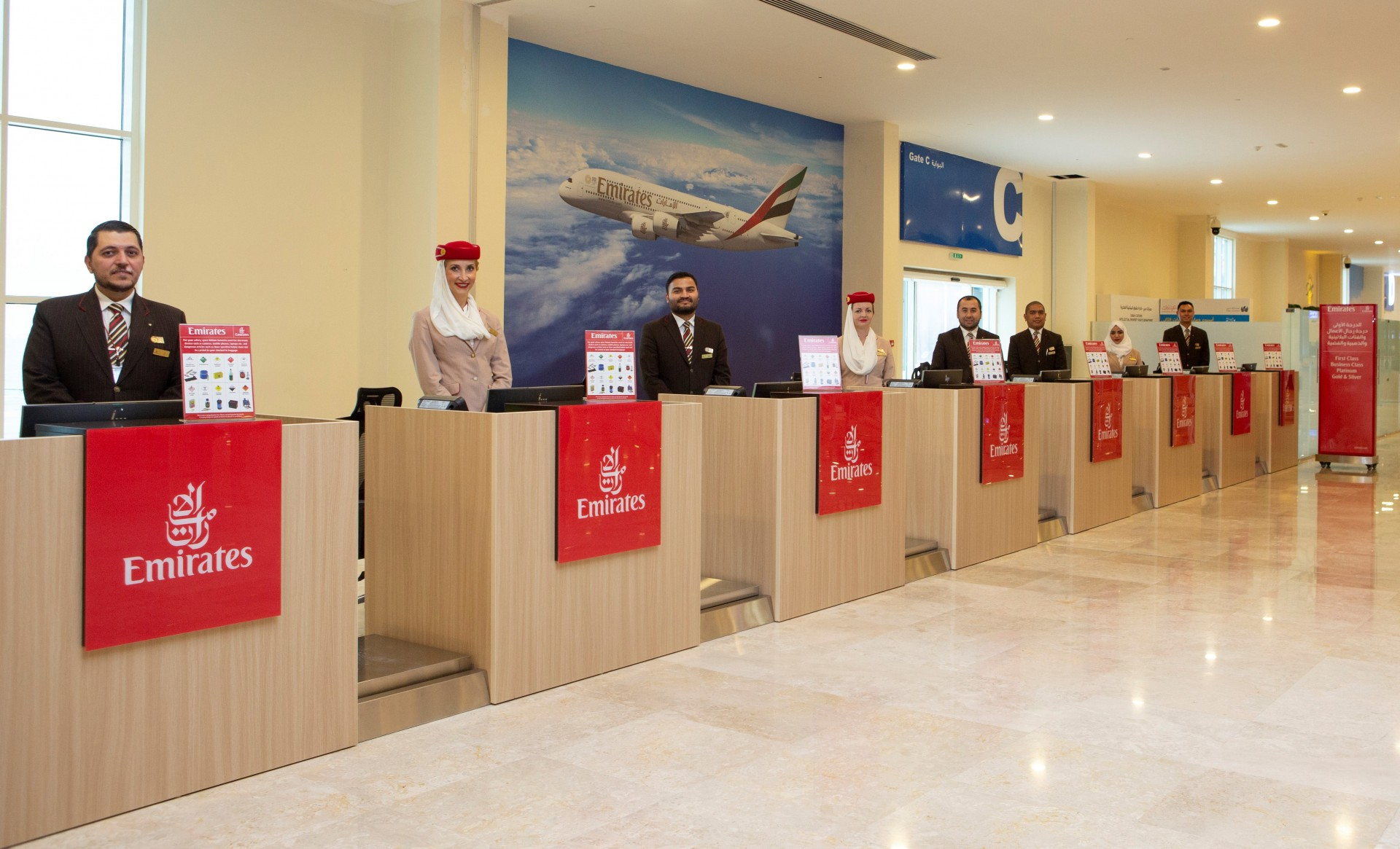 Emirates Check-in Facility at Port Rashid