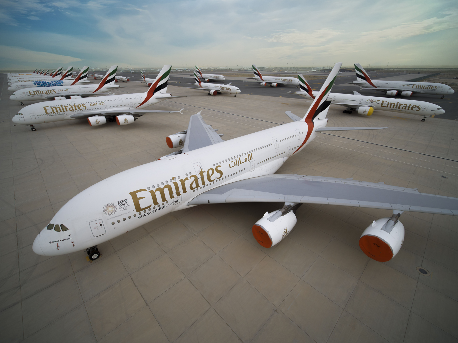 Why Middle East Airlines' Cancellation Rates Explode? — Parked Emirates Aircraft