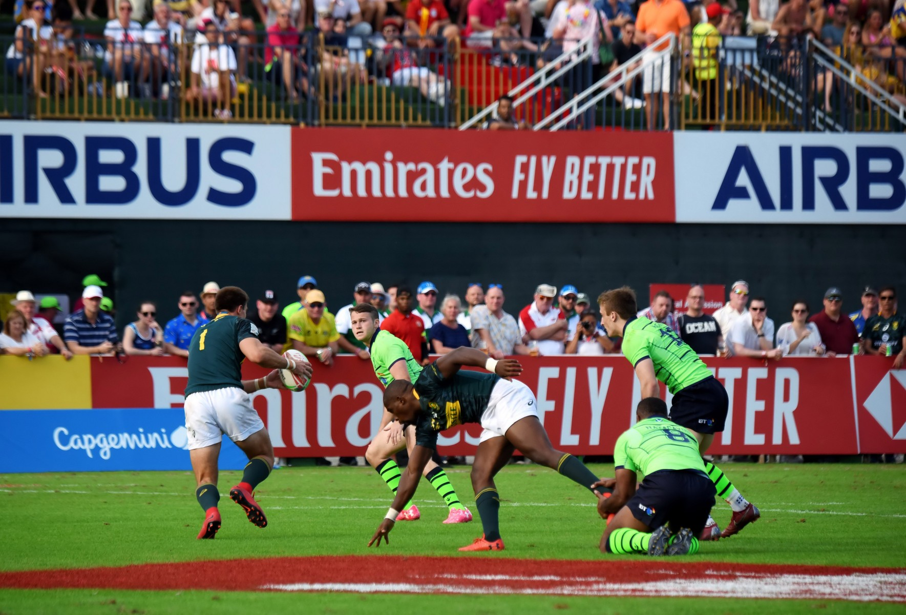 Emirates raises the excitement at the 50th running of the Emirates Airline Dubai Rugby Sevens