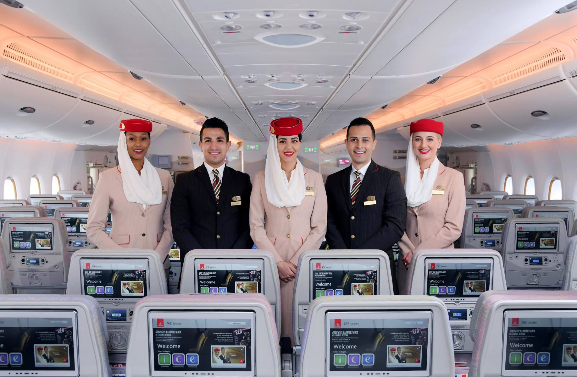 Emirates named World's Leading Cabin Crew 2019 and World's Leading Airline – Economy Class at the World Travel Awards Grand Final.