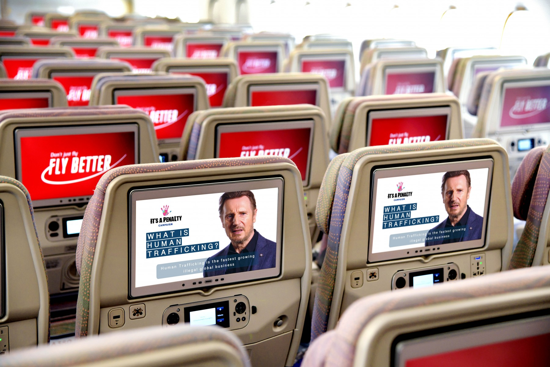 "Emirates is proud to support It's a Penalty's campaign's newest global film ""What is Human Trafficking?"" launched in collaboration with actor Liam Neeson."