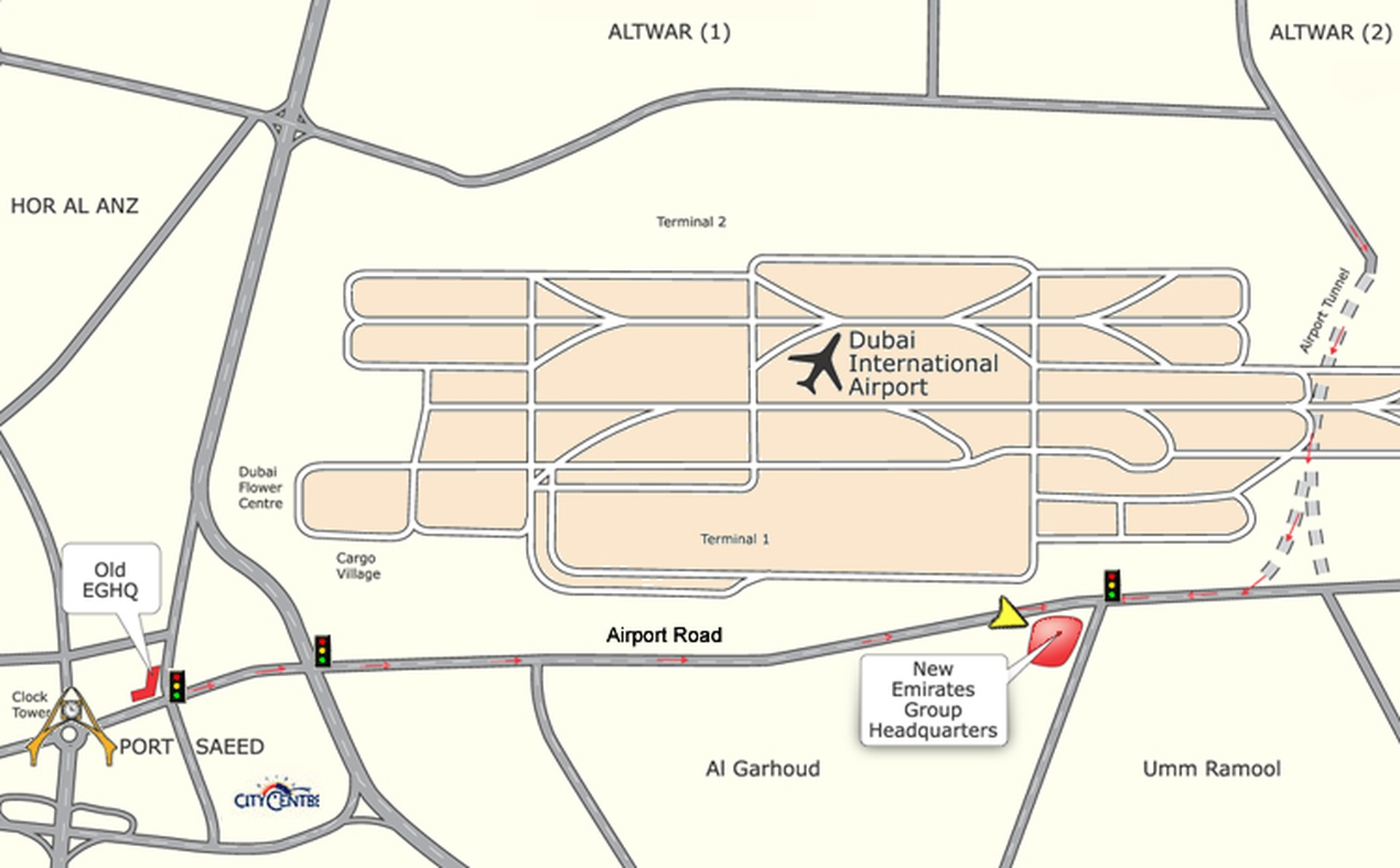 Map of Emirates Group Headquarters