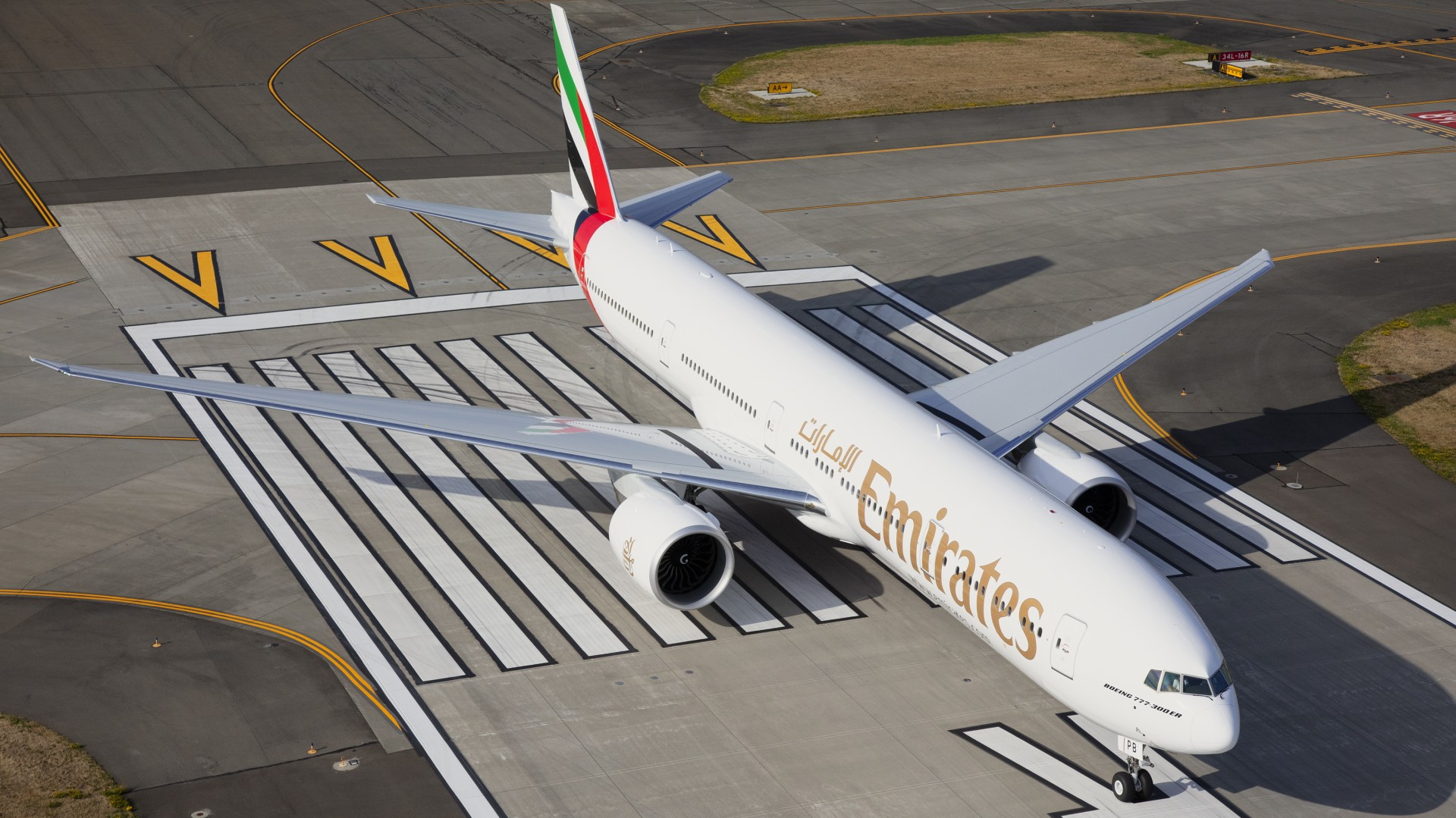 The Emirates Boeing 777-300ER