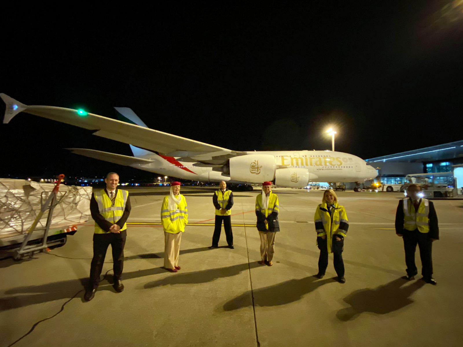 Emirates' outstation airport teams from Zurich  devotedly sent of their last passenger flights before the suspension took effect.