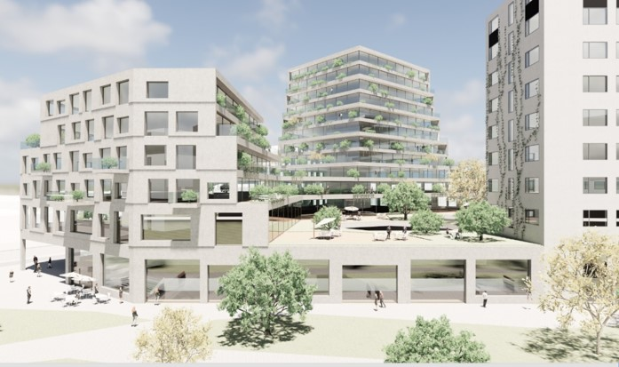 Artist impression development - Motion Building Sloterdijk
