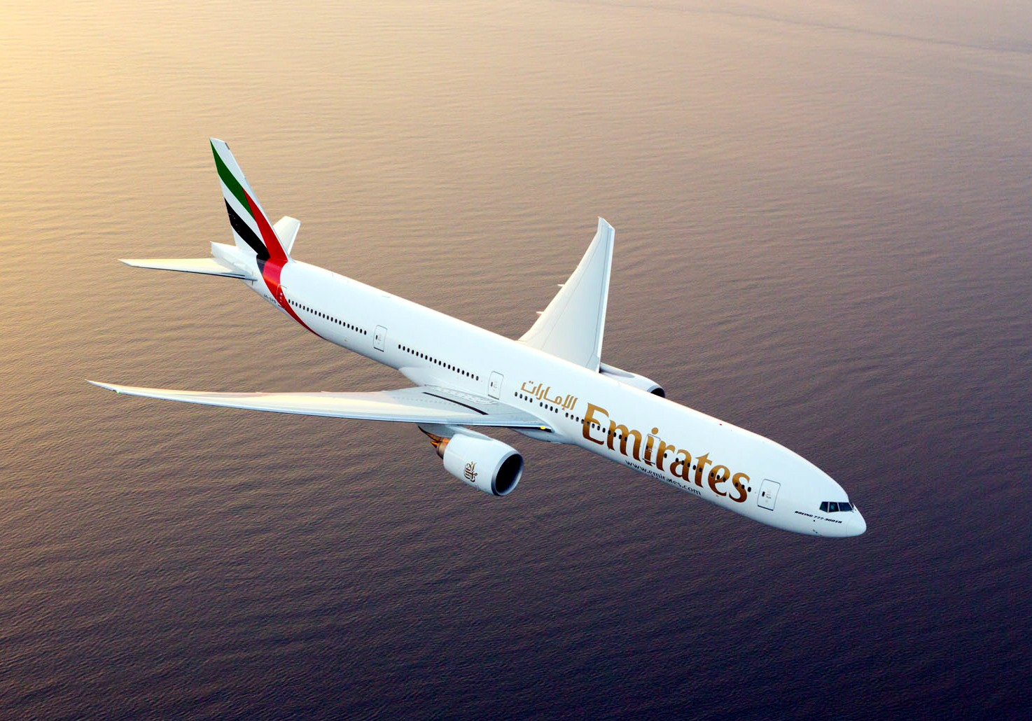 The Emirates Boeing 777-300 ER
