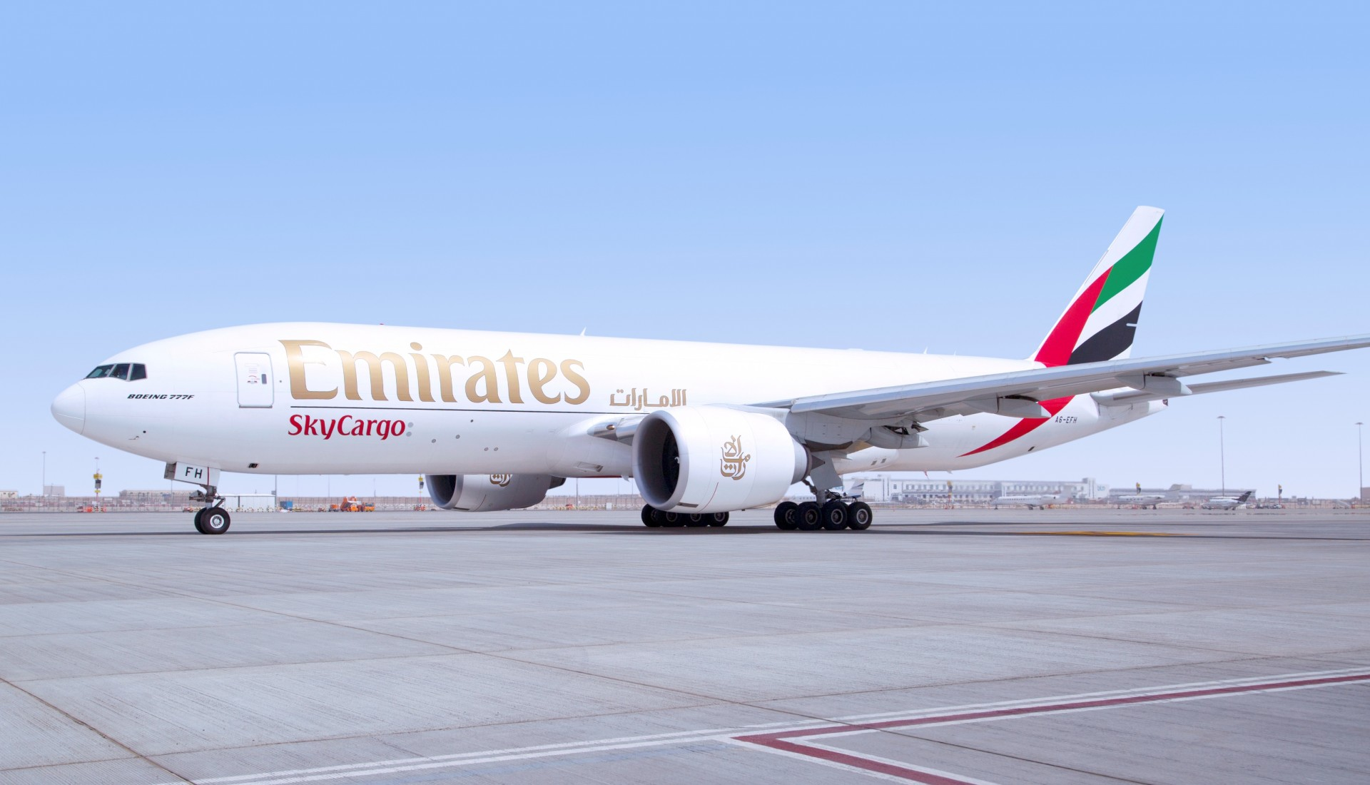 An Emirates SkyCargo  Boeing 777 freighter. Emirates SkyCargo has resumed scheduled freighter services to Chinese Mainland