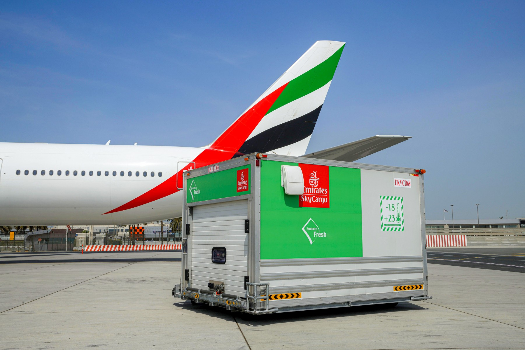 Emirates SkyCargo Fresh Cool Dollies help retain freshness of perishables in transit