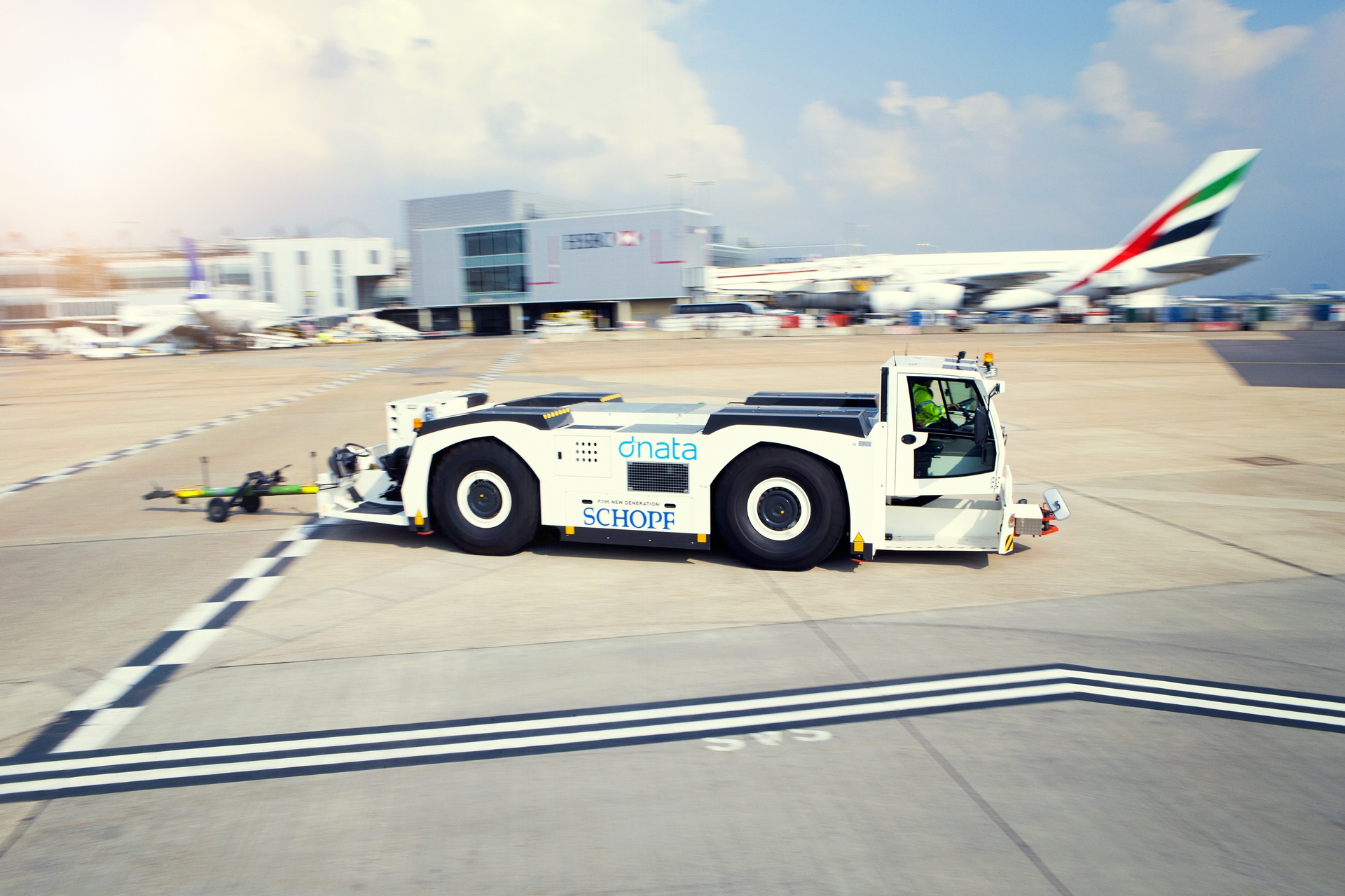 Pushback Tractors play a crucial role in making sure aircraft are positioned precisely on the taxiway for the aircraft to taxi to their take-off.