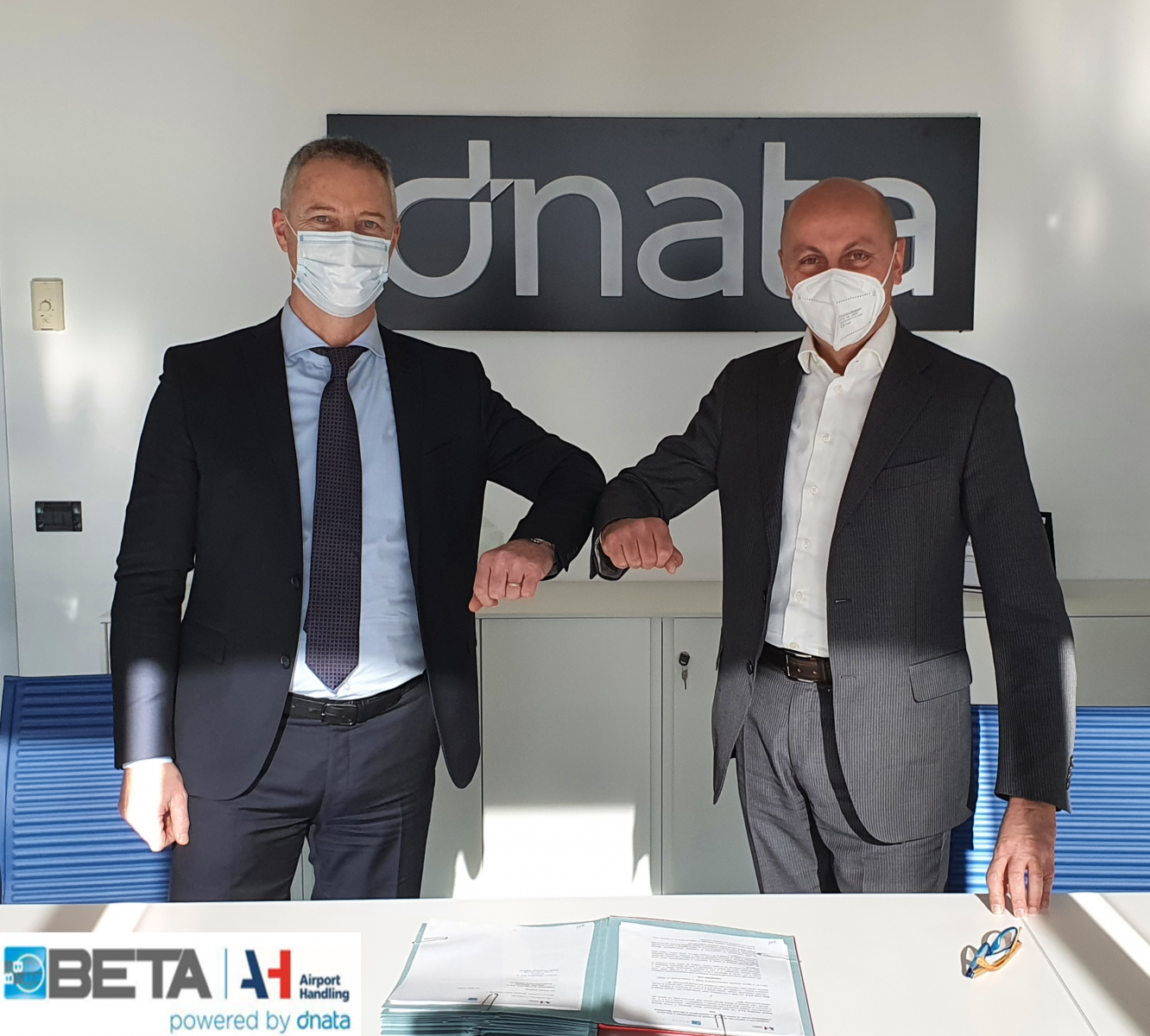 From left to right - Alberto Morosi, CEO of Airport Handling and Giorgio Bianculli, CEO of Beta Trans