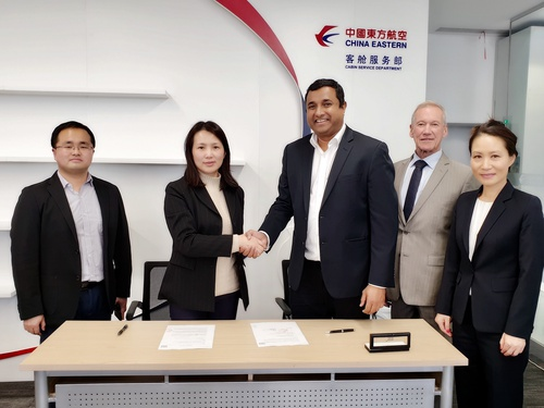 dnata's catering division extends partnership with China Eastern Airlines