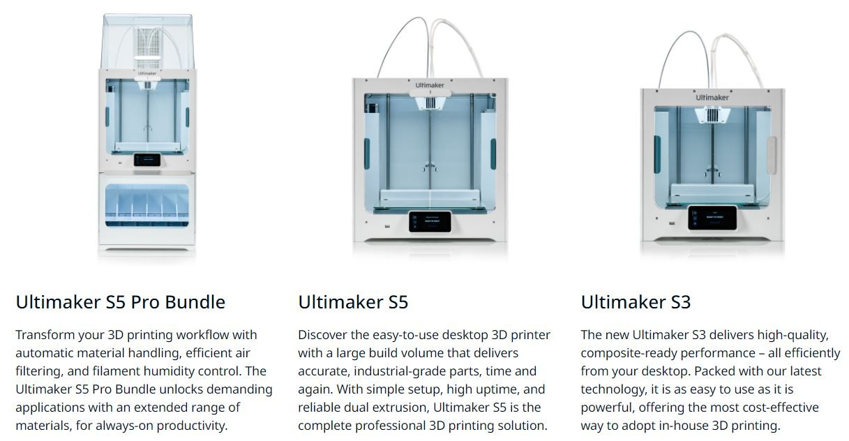 3d printers about ultimaker
