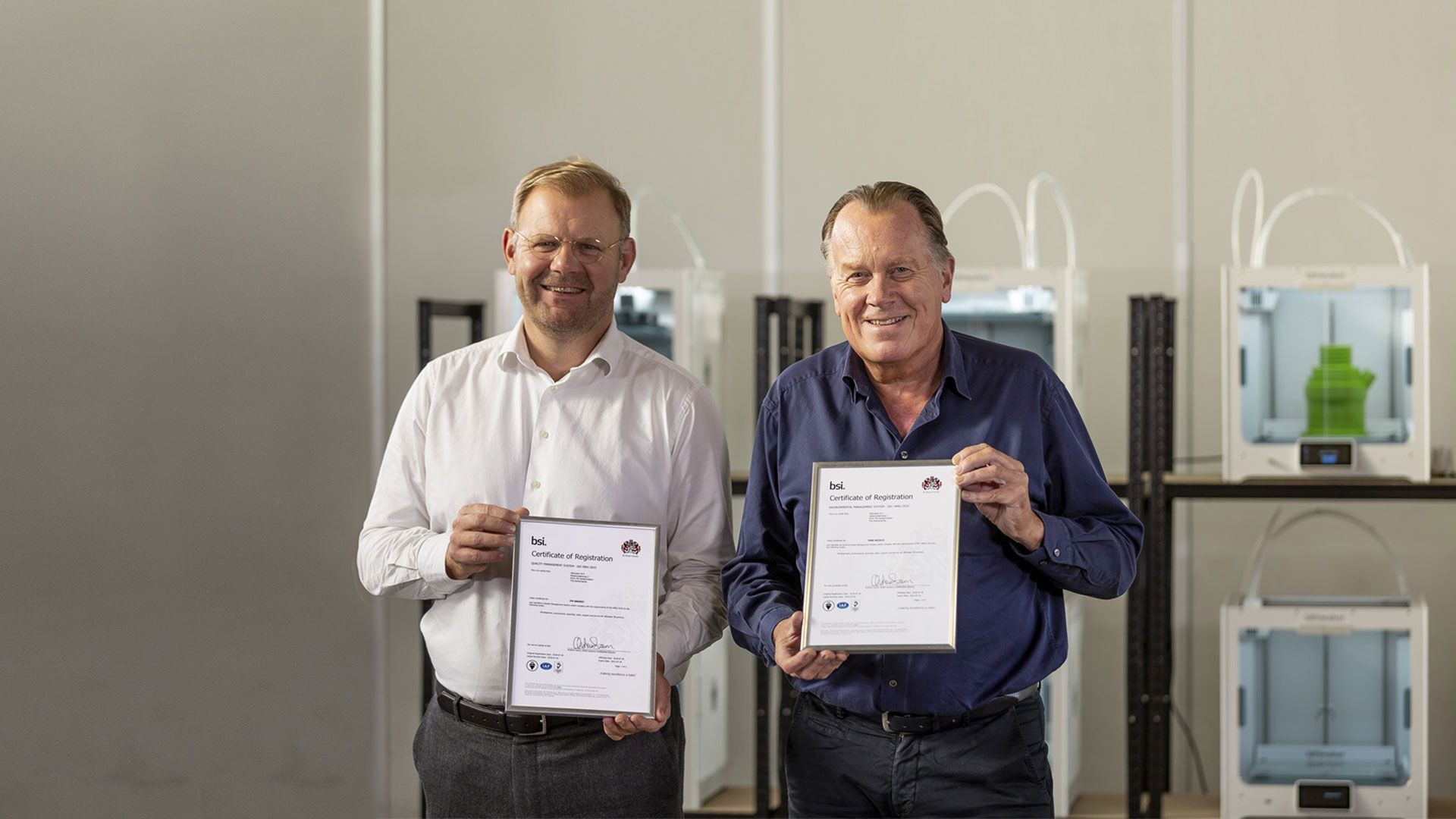 Ultimaker achieves ISO 9001 and ISO 14001 certifications