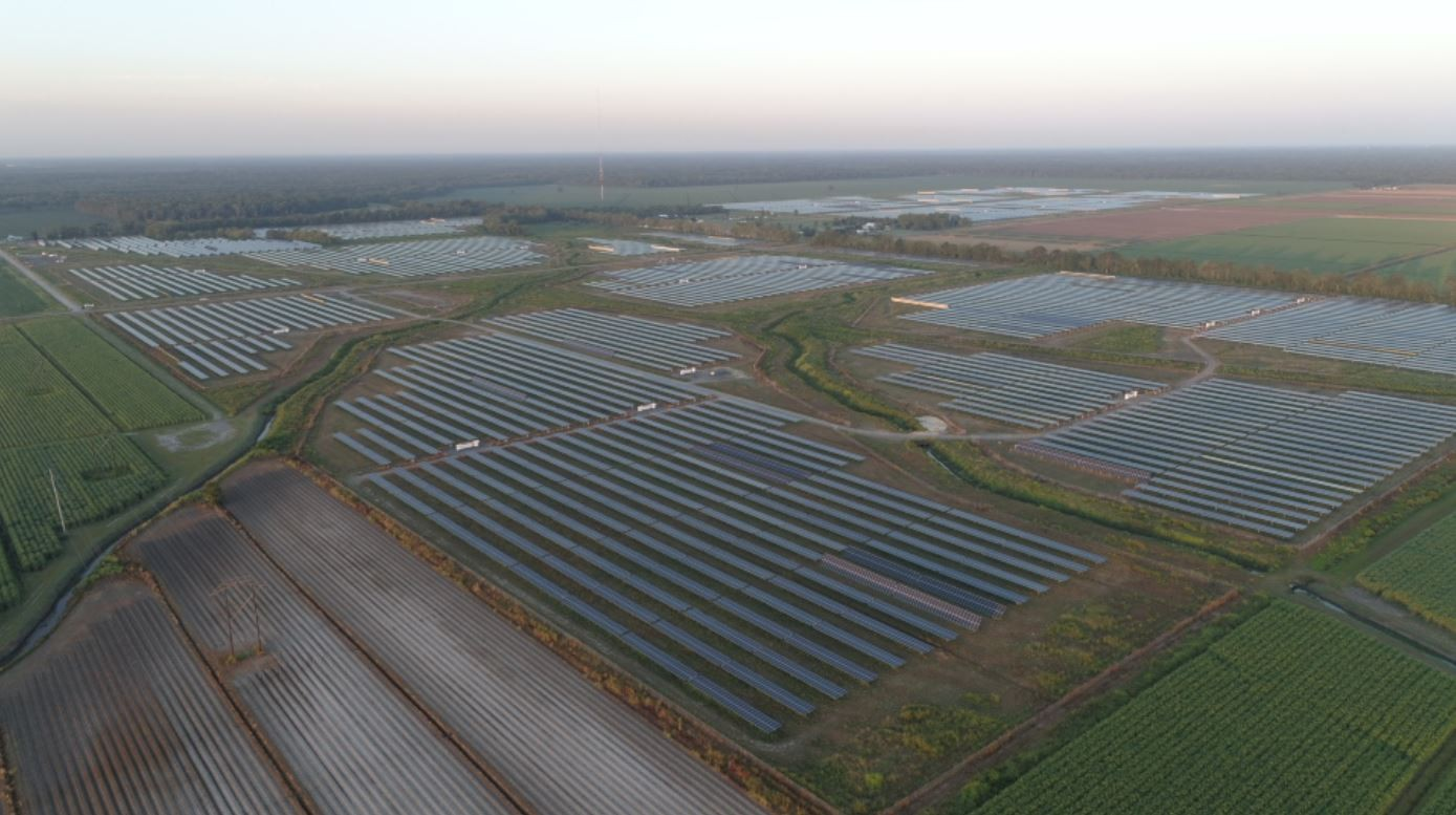 The 50-MW solar project, located in West Baton Rouge Parish, is the largest in Louisiana.
