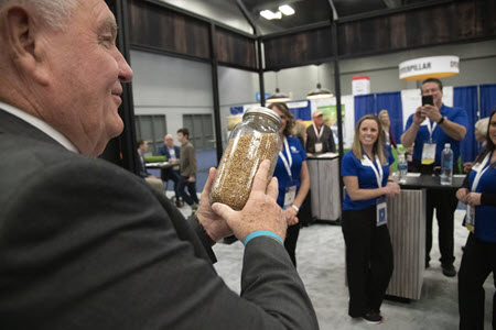 U.S. Secretary of Agriculture, Sonny Perdue, visited the Nationwide booth.