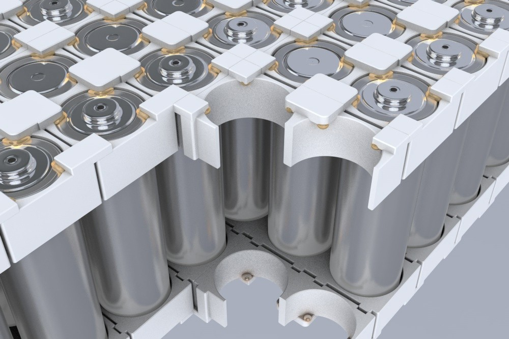 Battery modules with cylindrical cells
