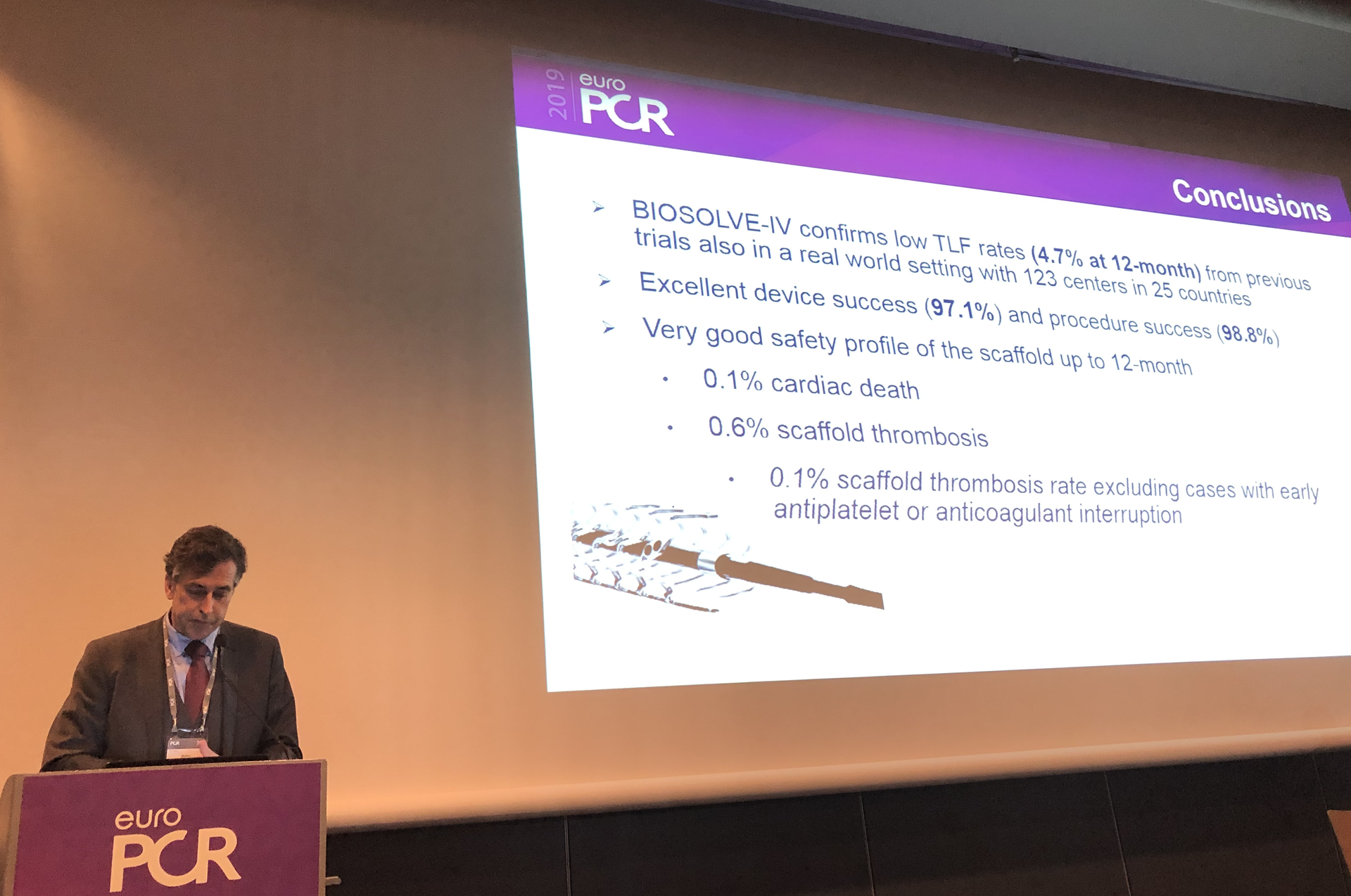 Dr. Stefan Verheye at EuroPCR Congress 2019