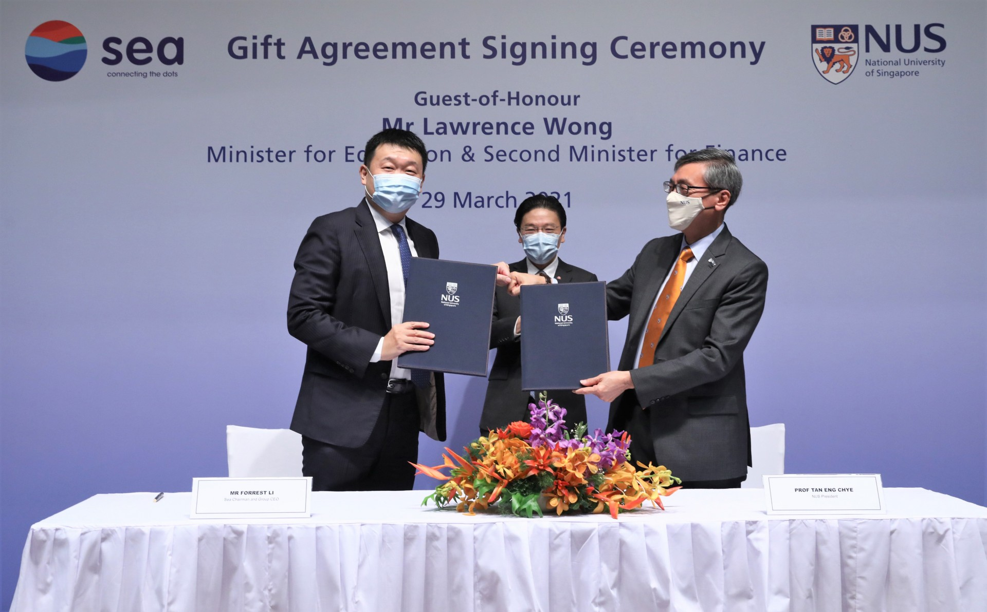 2021 0329 Sea-NUS Gift Agreement Signing Ceremony
