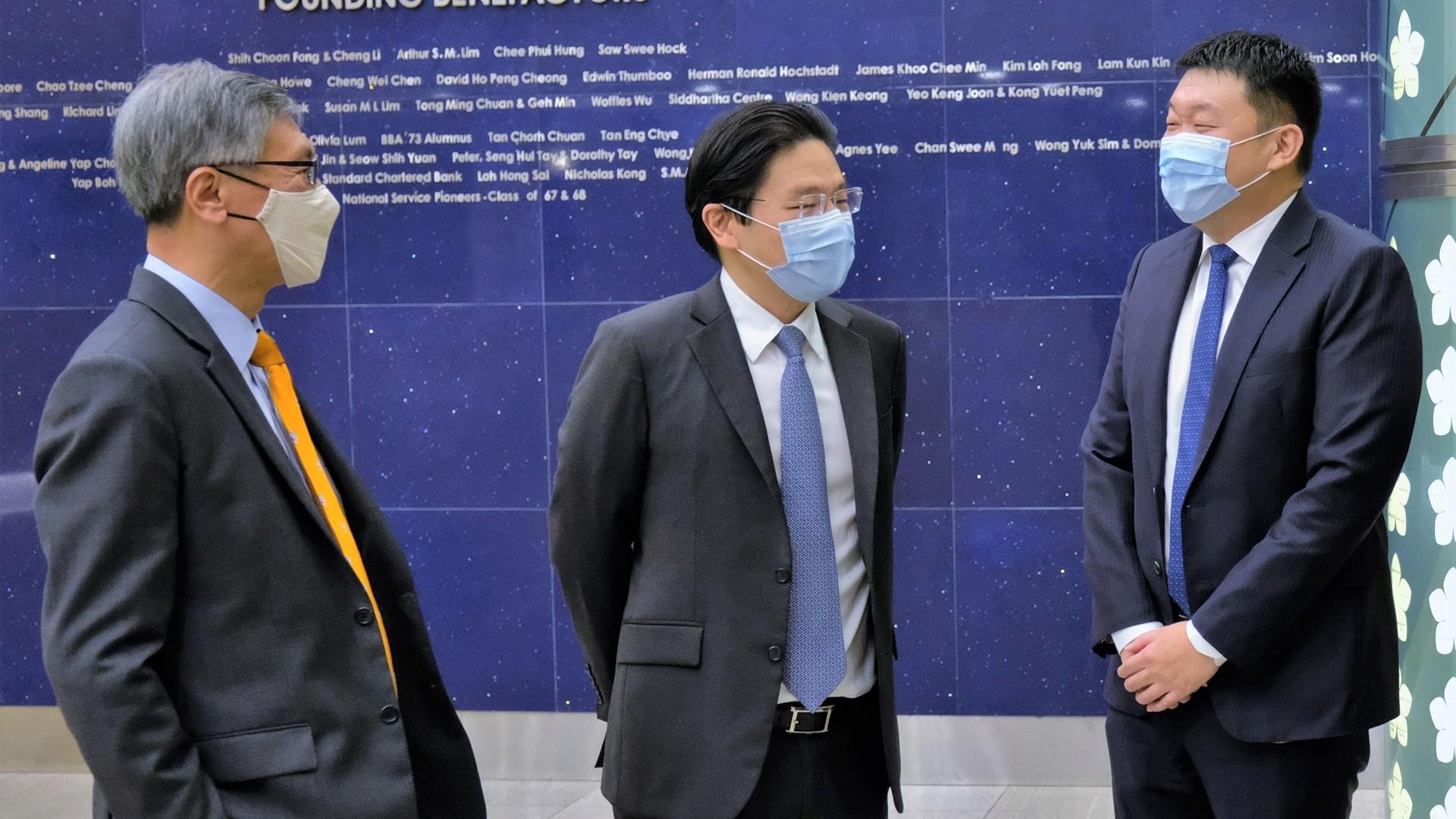 Prof Tan, Mr Wong, Mr Li