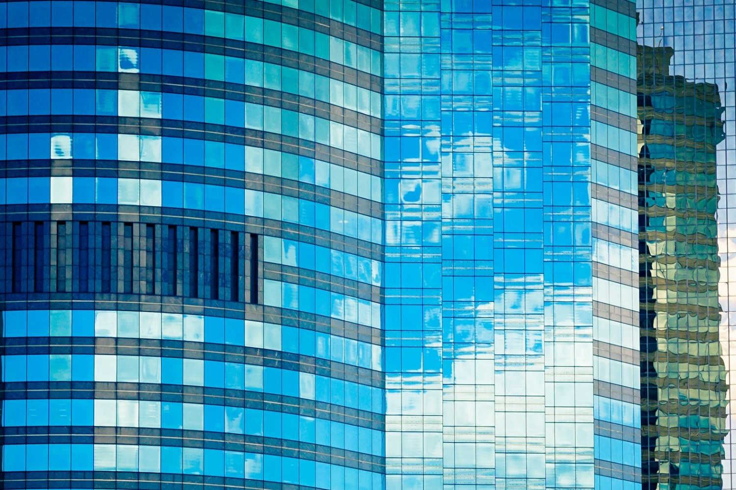 Office buildings abstract reflections