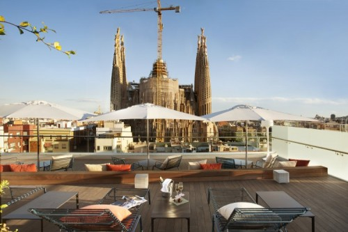 A great view of the Sagrada Familia from Ayre Hotel Rosellón