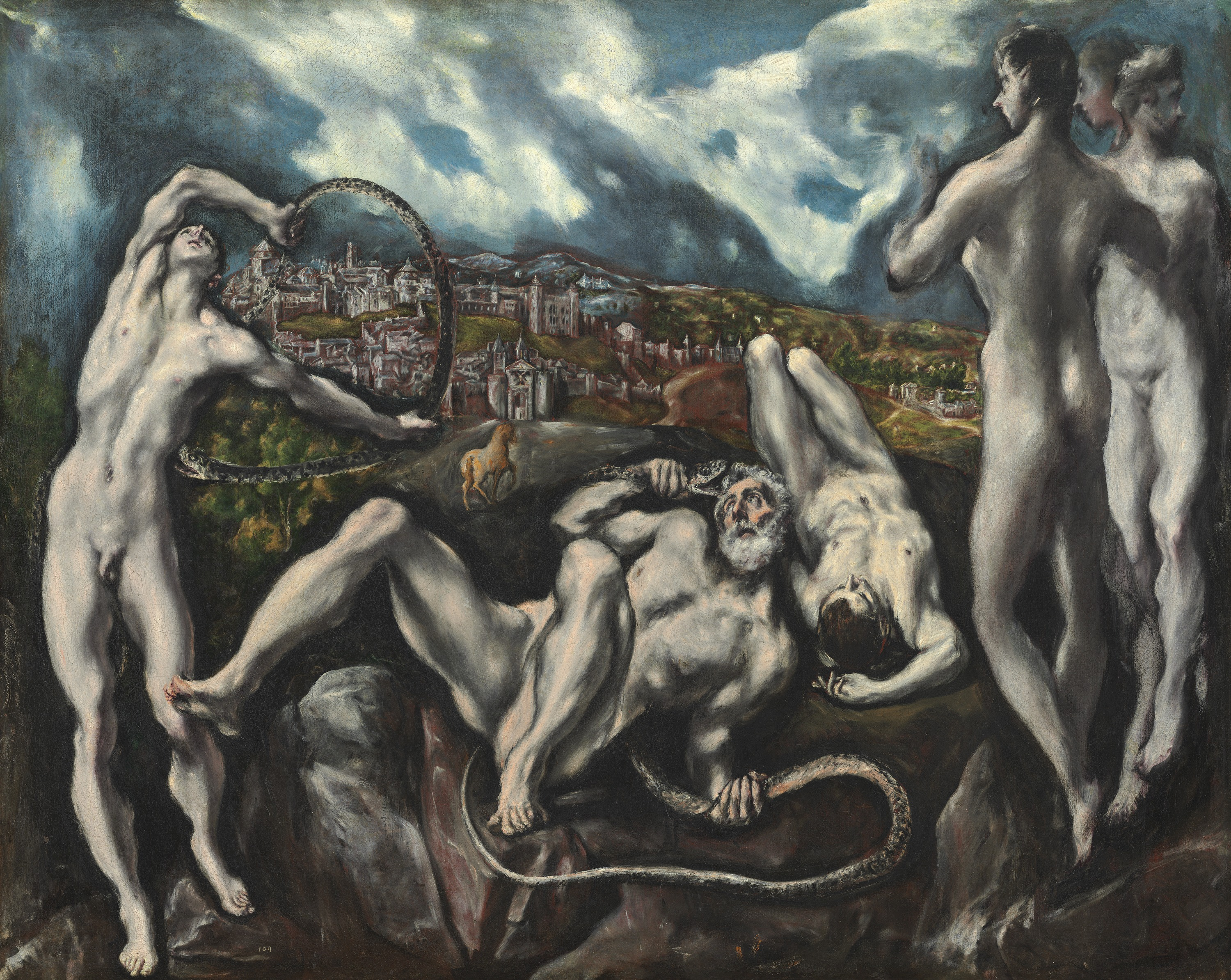 Laocoön  El Greco  Oil on canvas, 137.5 x 172.5 cm  c. 1608 - 1614  Washington, D.C., National Gallery of Art. Samuel H. Kress Collection. 1946.18.1