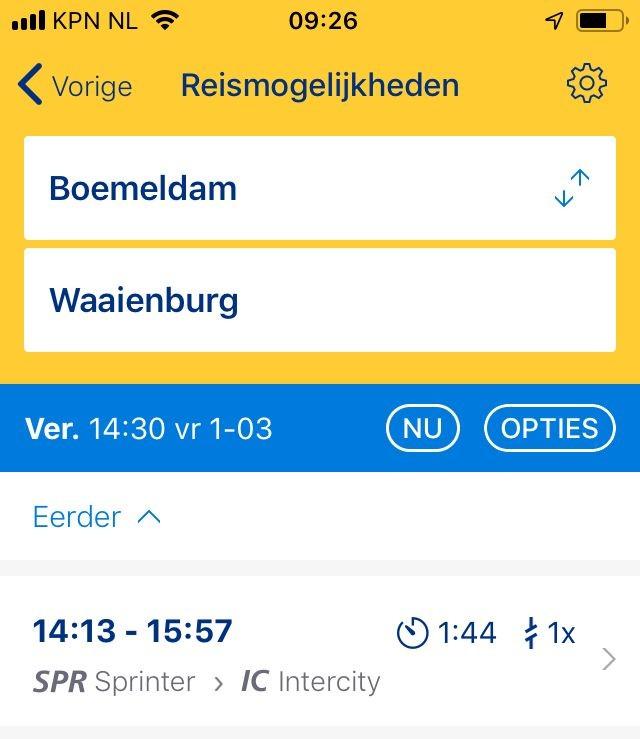 ns reisplanner bus