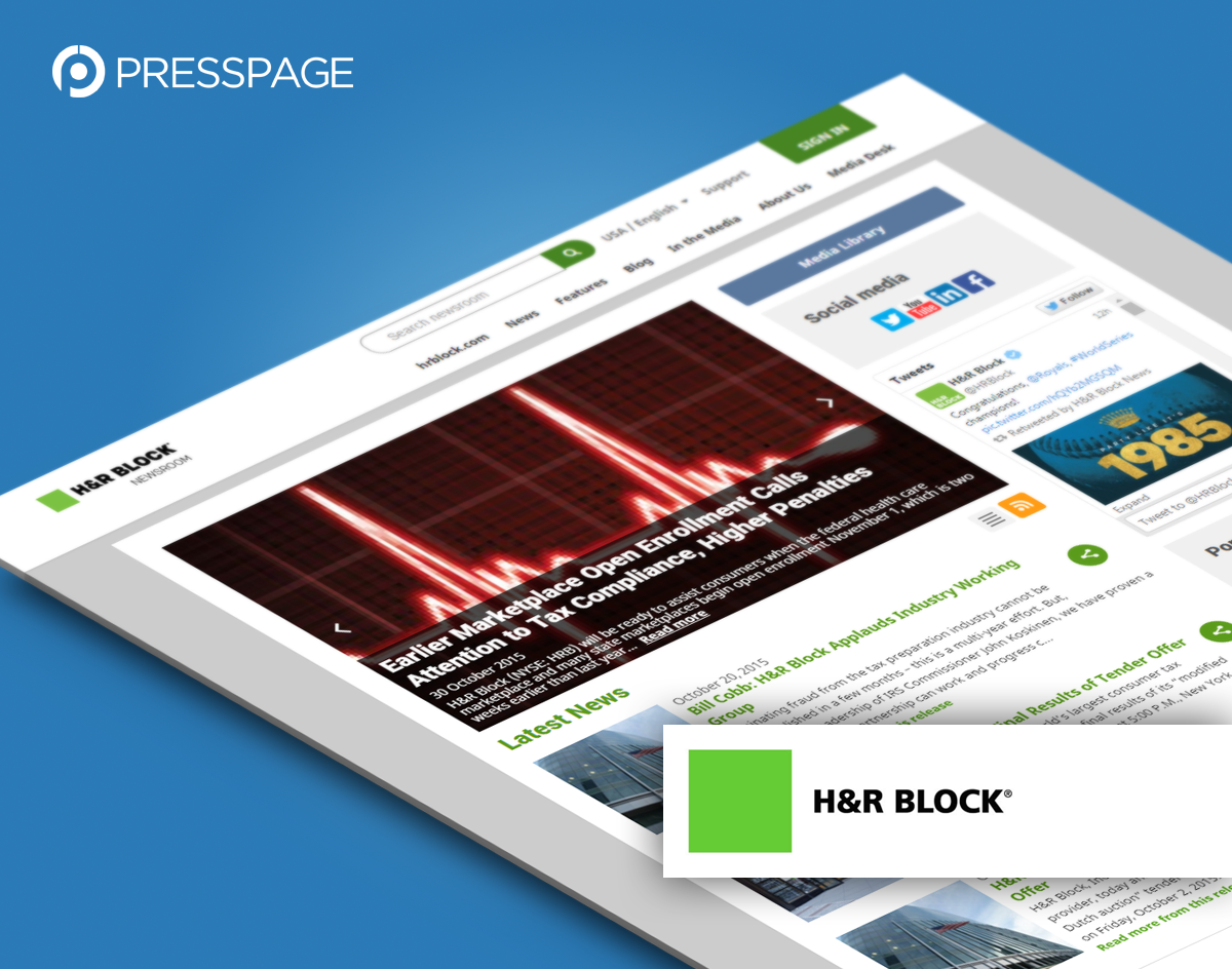PressPage newsroom: H&R Block