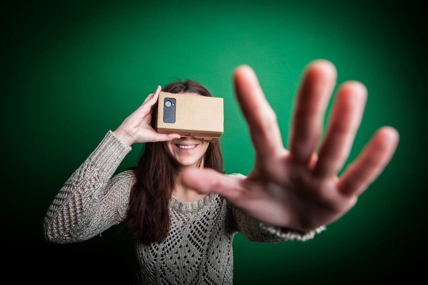 Google cardboard wearable virtual reality