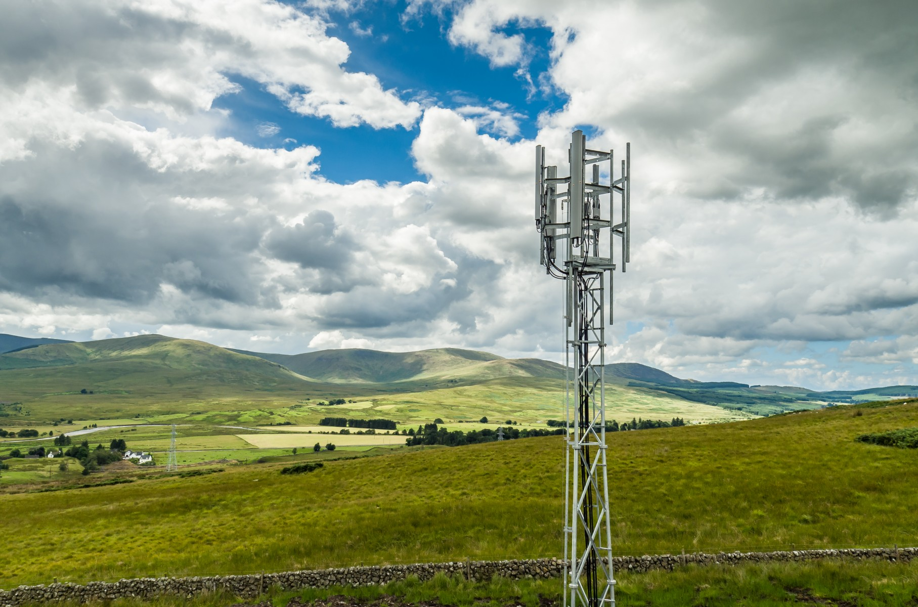 EE 4G mast build in Carsphairn in Dumfries and Galloway