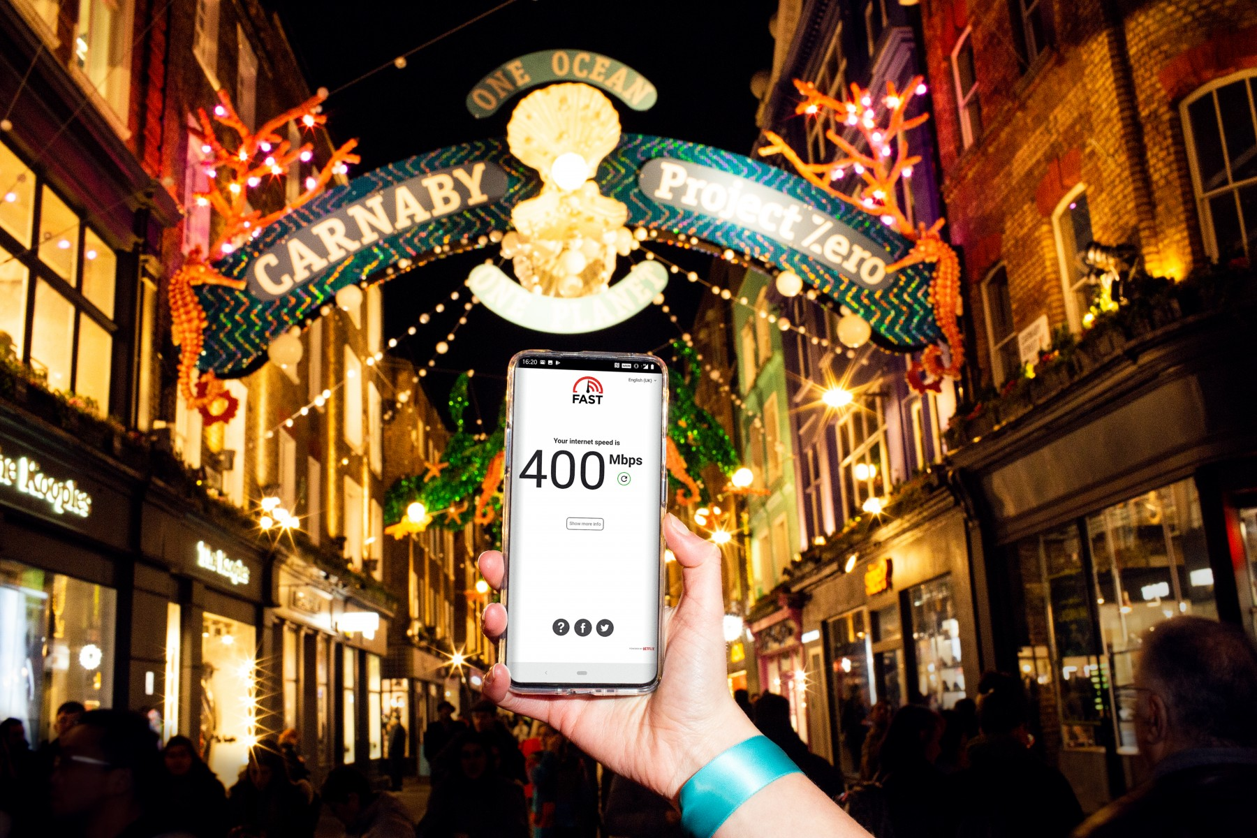 EE 5G Speed Test Carnaby Street