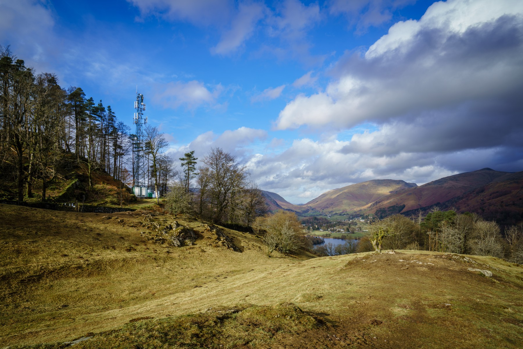 EE site above Grasmere lake in the Lake District National Park