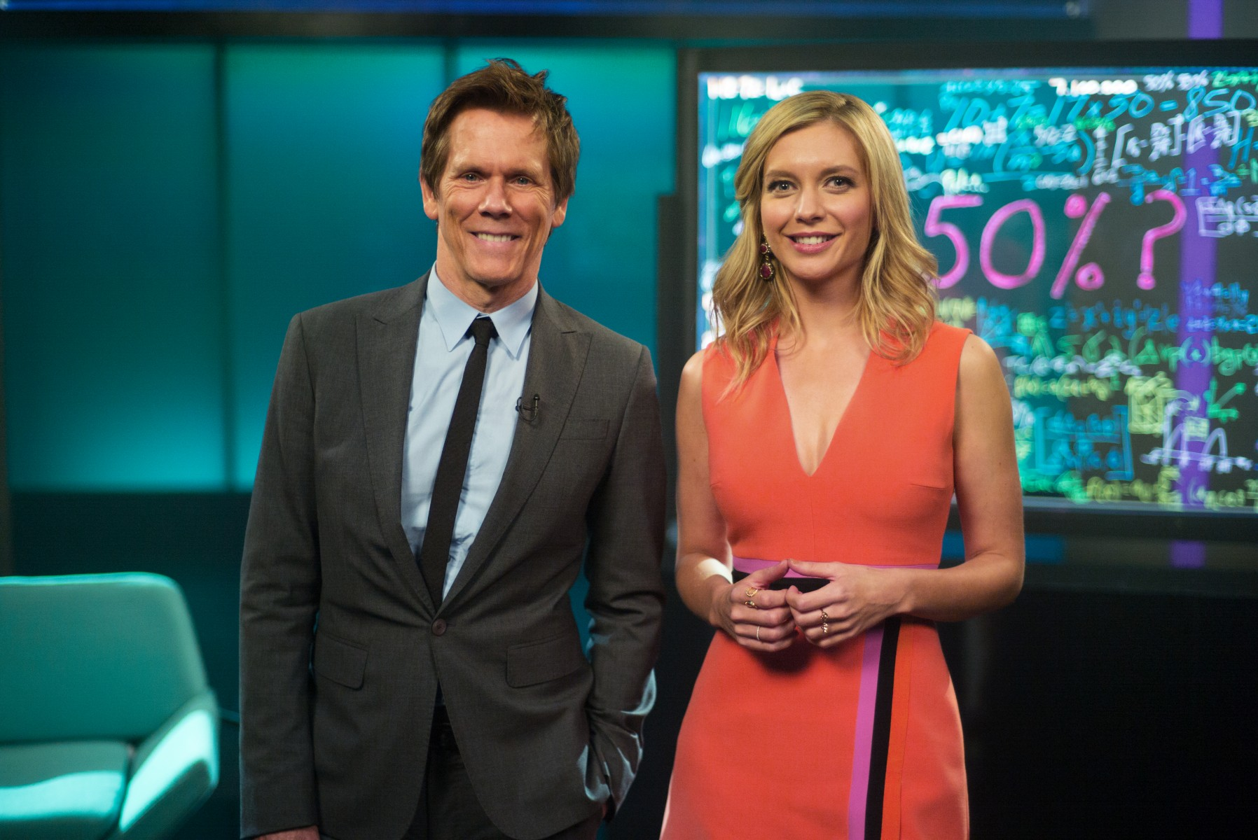Kevin Bacon and Rachel Riley