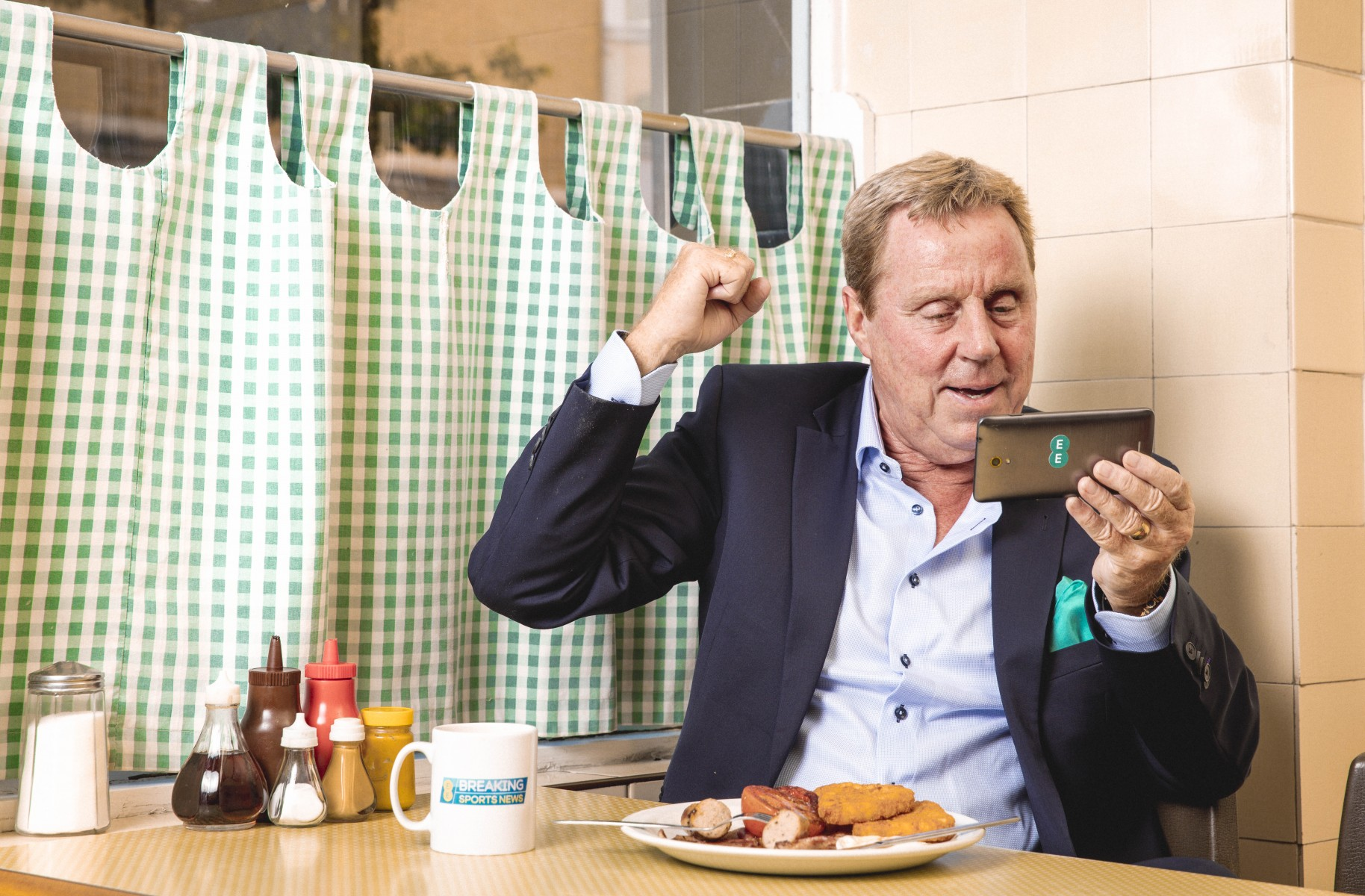 Harry Redknapp using the EE BT Sport app