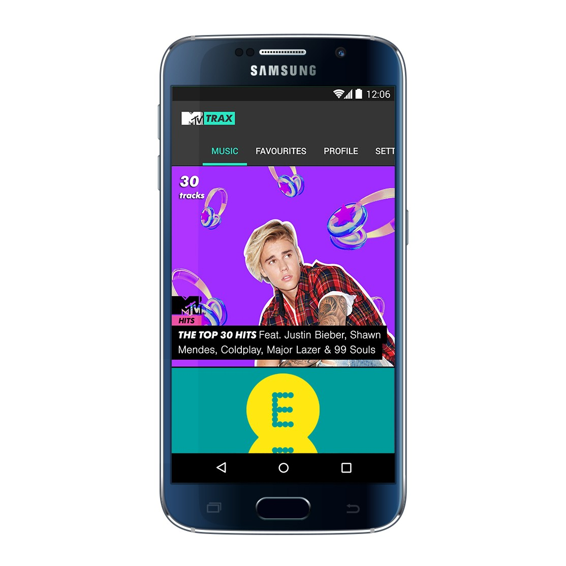 Samsung Galaxy G6 with MTV TRAX