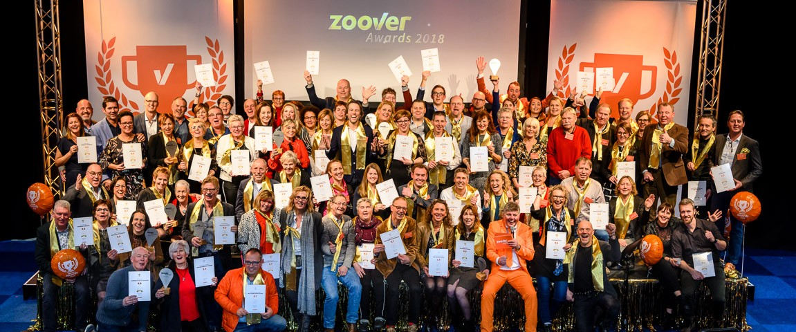 Groepsfoto Zoover Awards