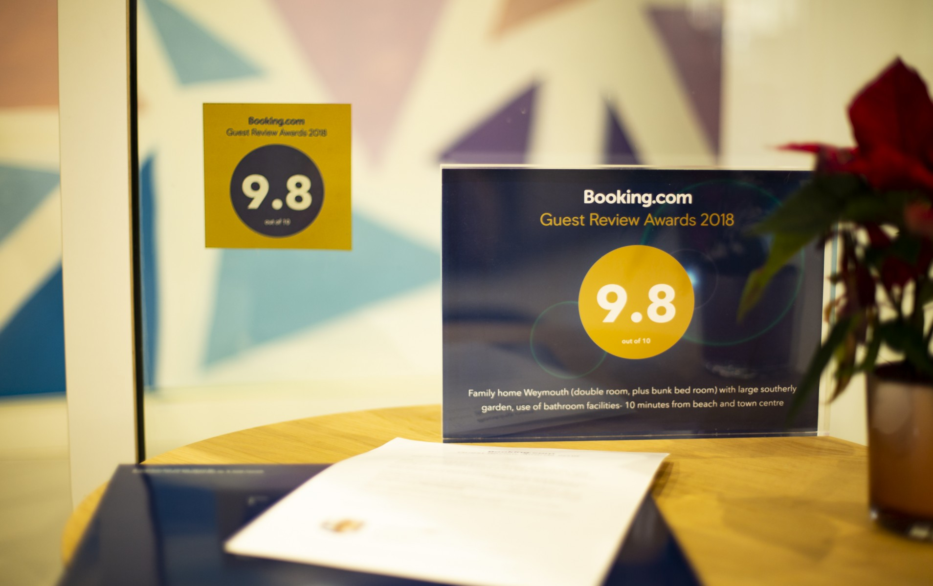 2018 Booking.com Guest Review Award 3
