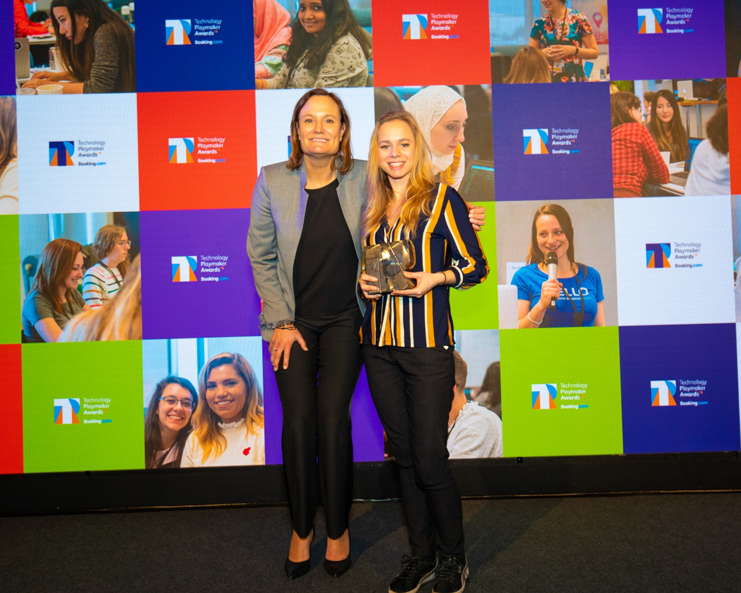 Tech Innovator winner – Sophie Hombert with Gillian