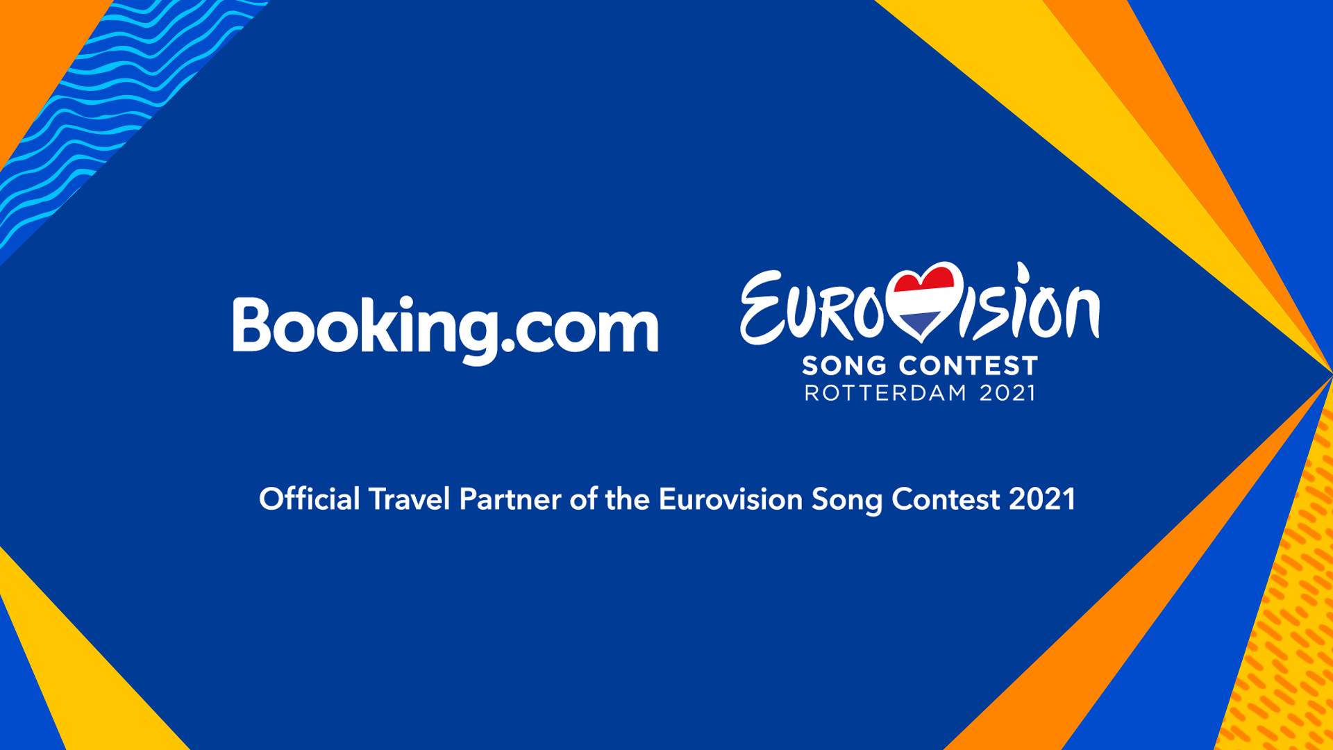 Booking.com as Official Travel Partner of  Eurovision 2021