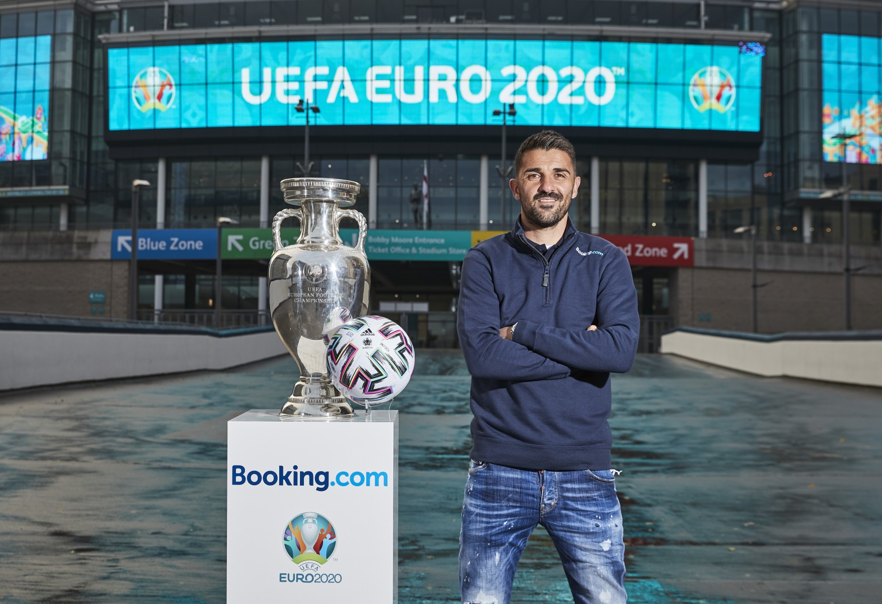 Booking.com Global Ambassador for UEFA Euro 2020 David Villa