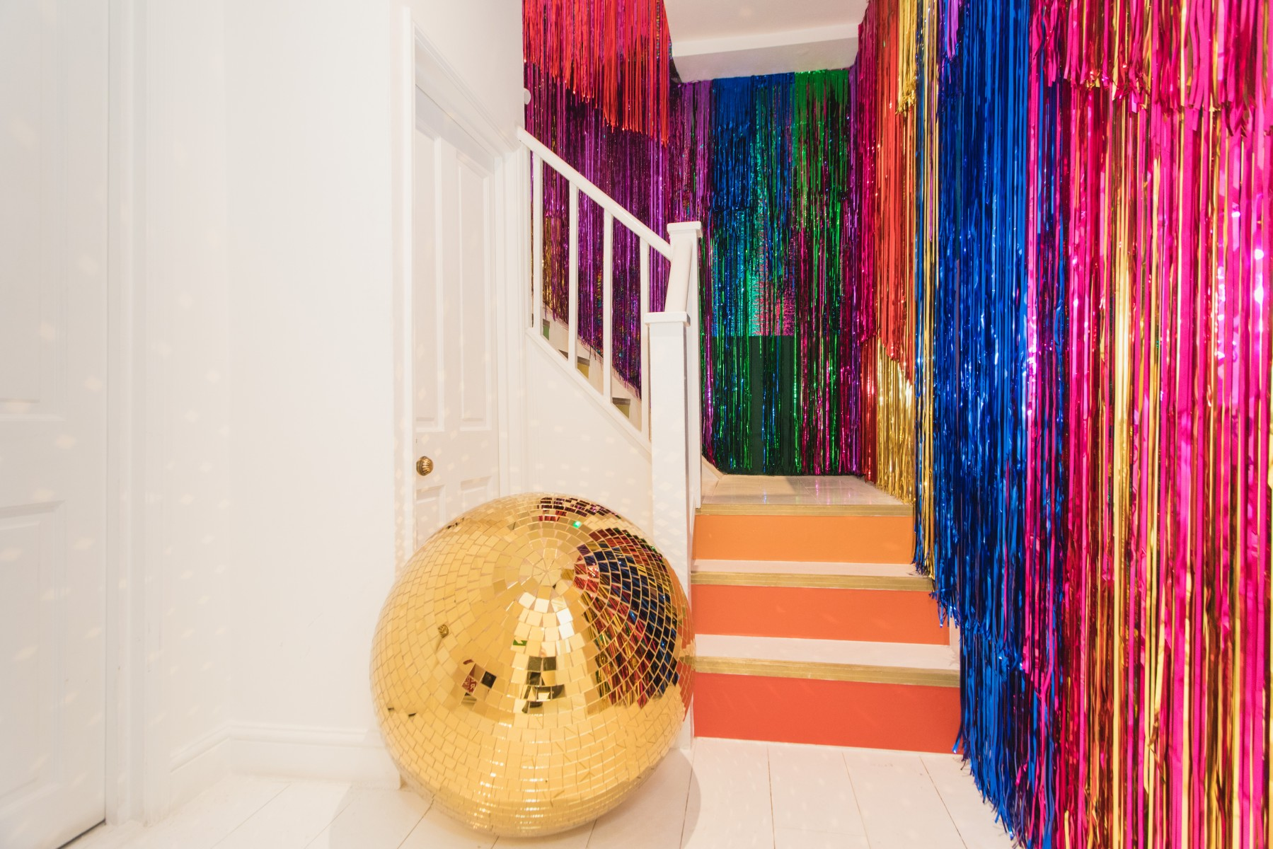 Booking.com House of Sparkle Rainbow Staircase