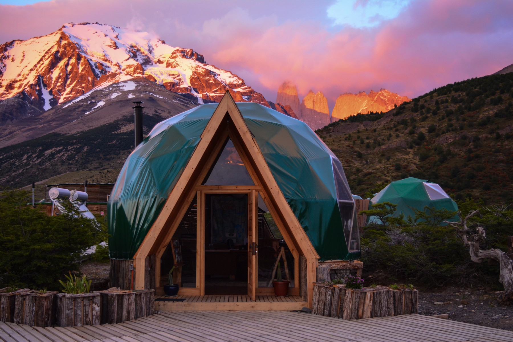 Ecocamp Patagonia, Chile. Credit Booking.com