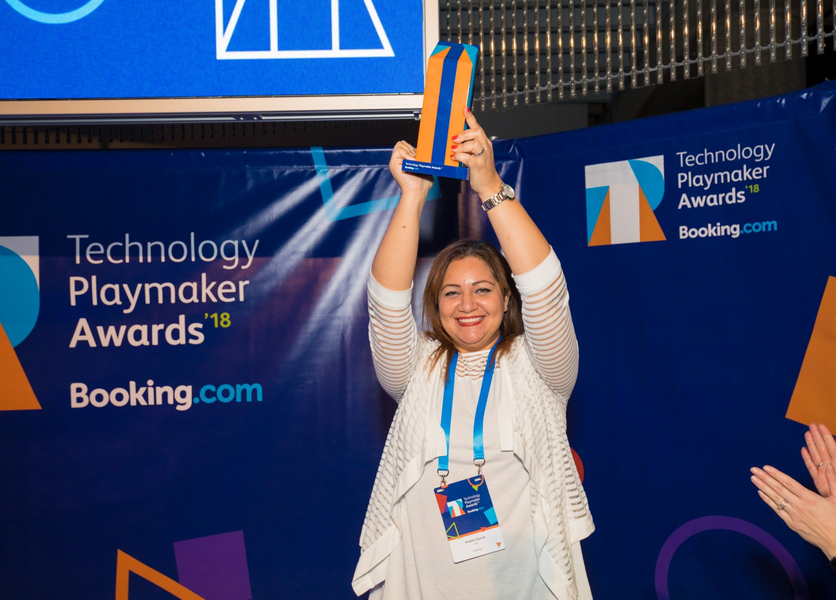 Hadeel Ayoub, 2018 Tech Playmaker Awards Winner